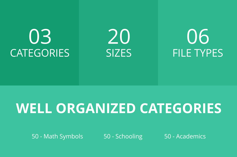 150 Academics Flat Icons example image 2