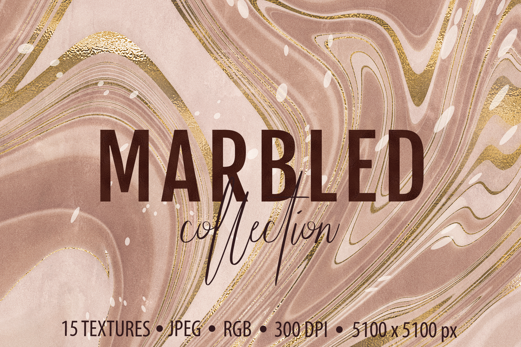 Marbled Paper Textures Collection - 15 Digital Papers example image 1