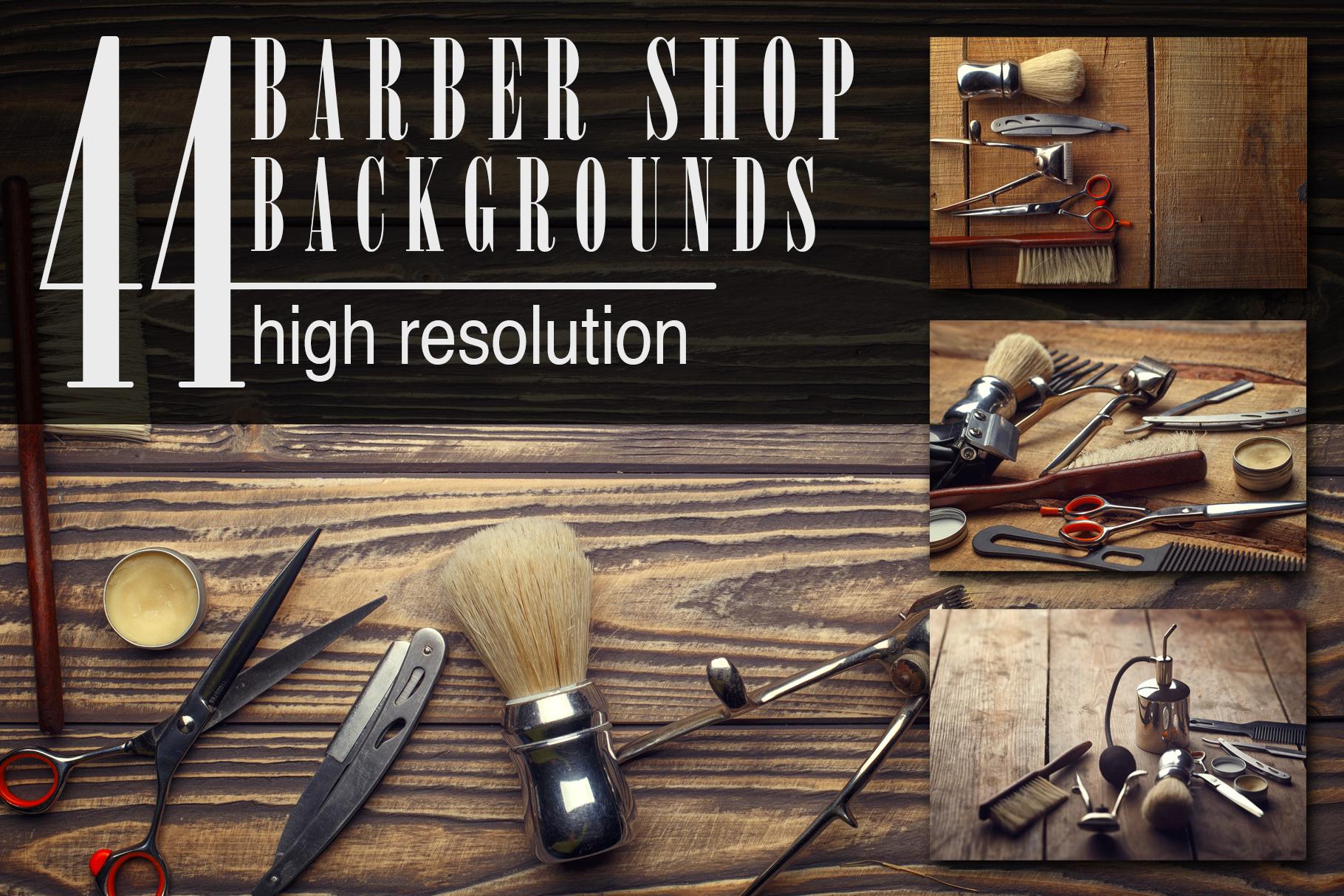 Barber Shop Wooden Backgrounds Jpg Set