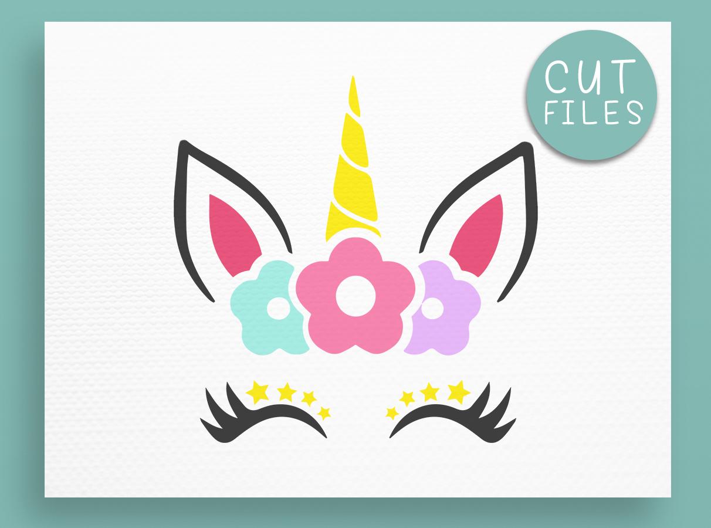 Unicorn SVG - Unicorn face SVG - Unicorn cut files DXF