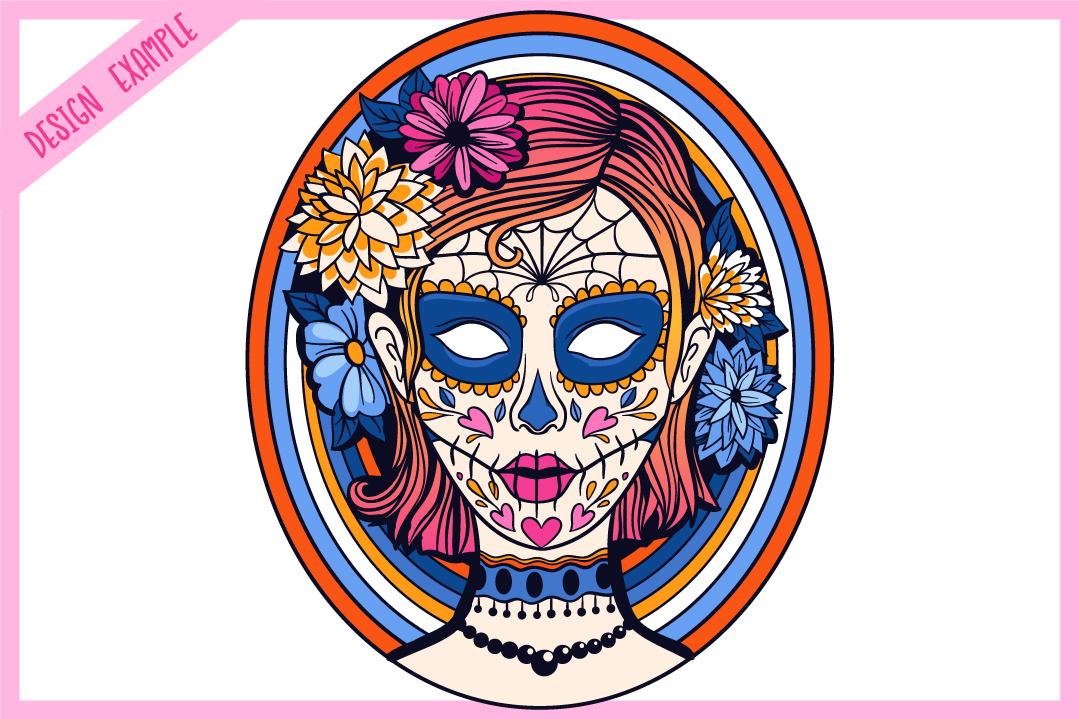 Sugar Skull SVG Collection | Calavera Ladies SVG example image 7