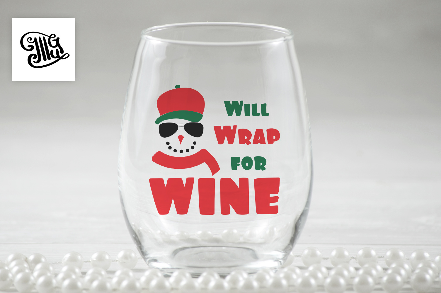 Will Wrap for wine - Christmas wine example image 1