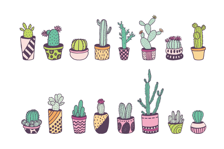 Cactus Doodle Set example image 3