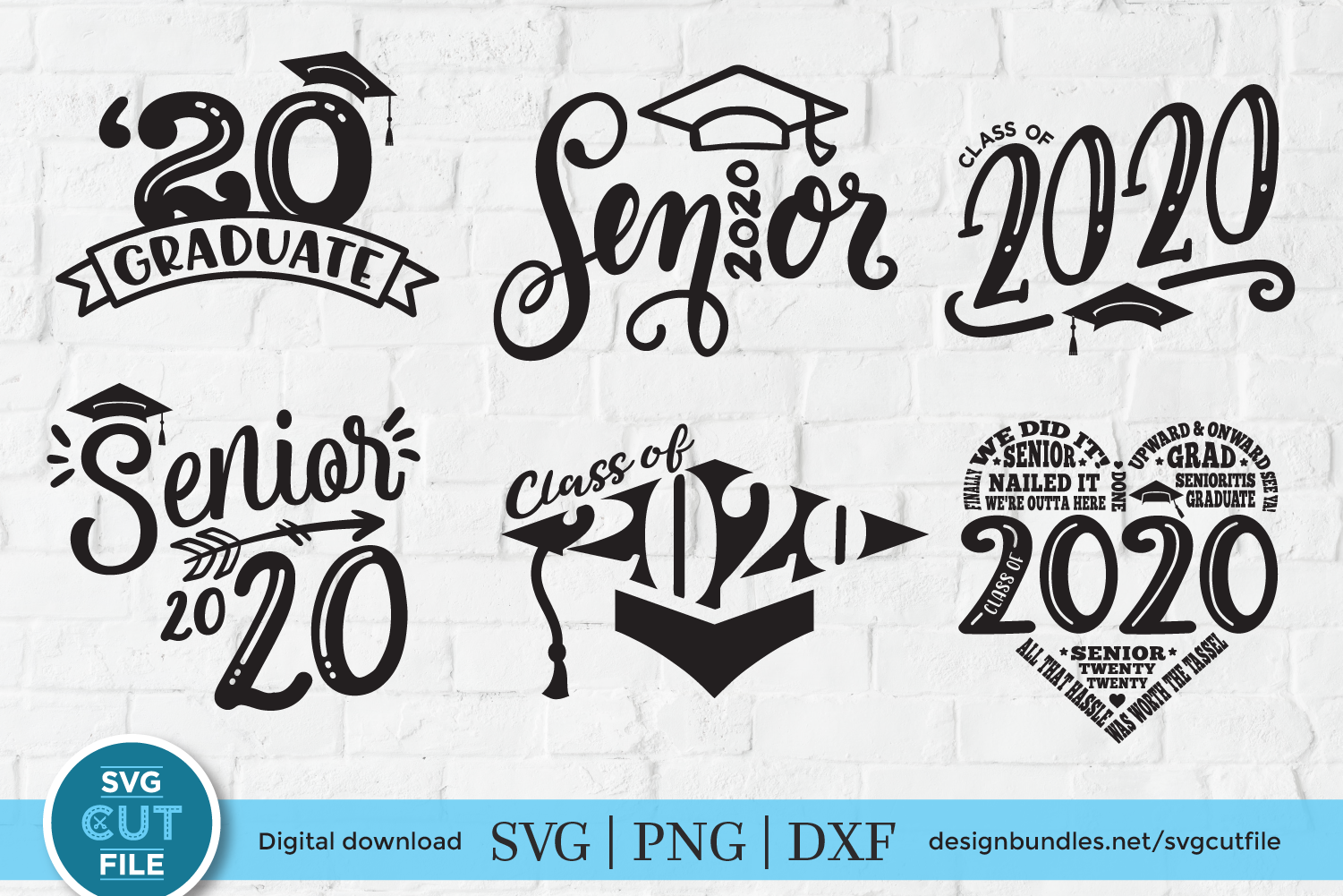 2020 Grad Svg File A Class Of 2020 Senior Svg Bundle