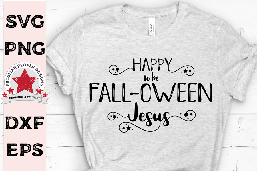 Cute Following Jesus SVG distress, funny Christian Halloween example image 2