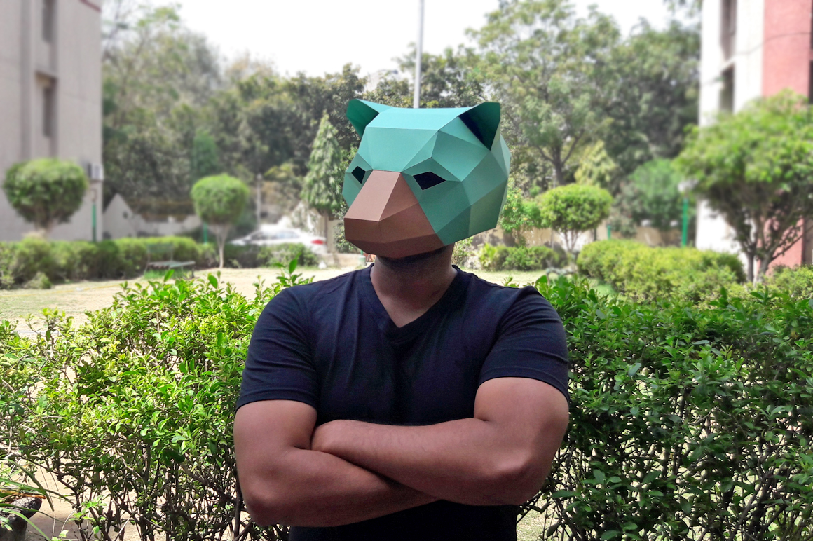 DIY Bear Mask - 3d papercraft example image 5