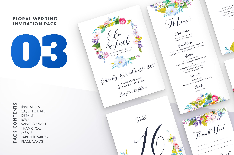 Flower Wedding Invitation Suite Vol.3 / Save Date / Bride example image 1