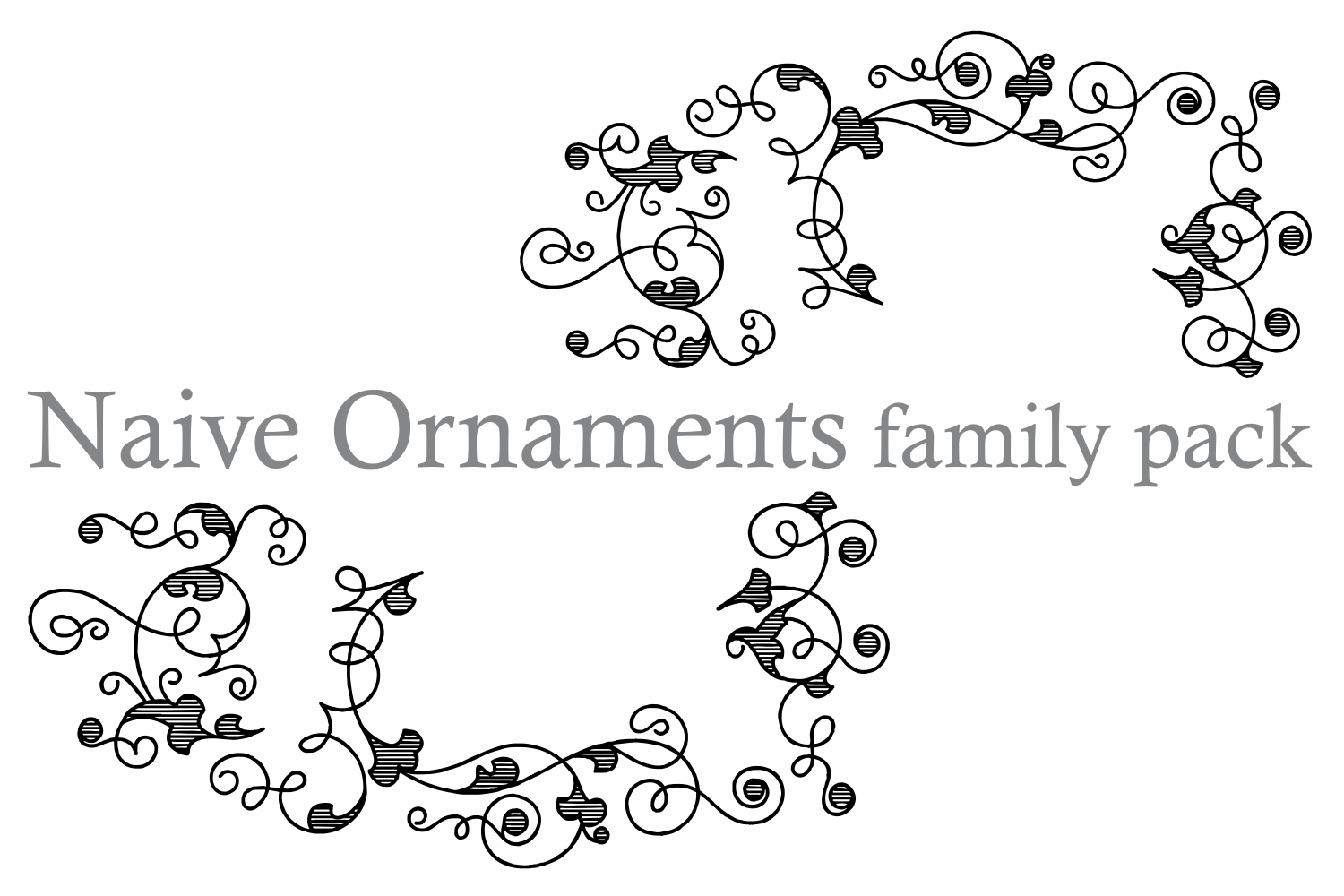 Naive Ornaments Family Pack (seven fonts) example image 6