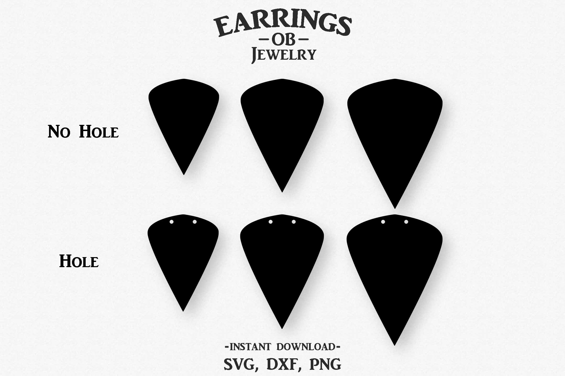 Double Hole Earring Svg, Teardrop, Leaf, Stacked, Cut File example image 2