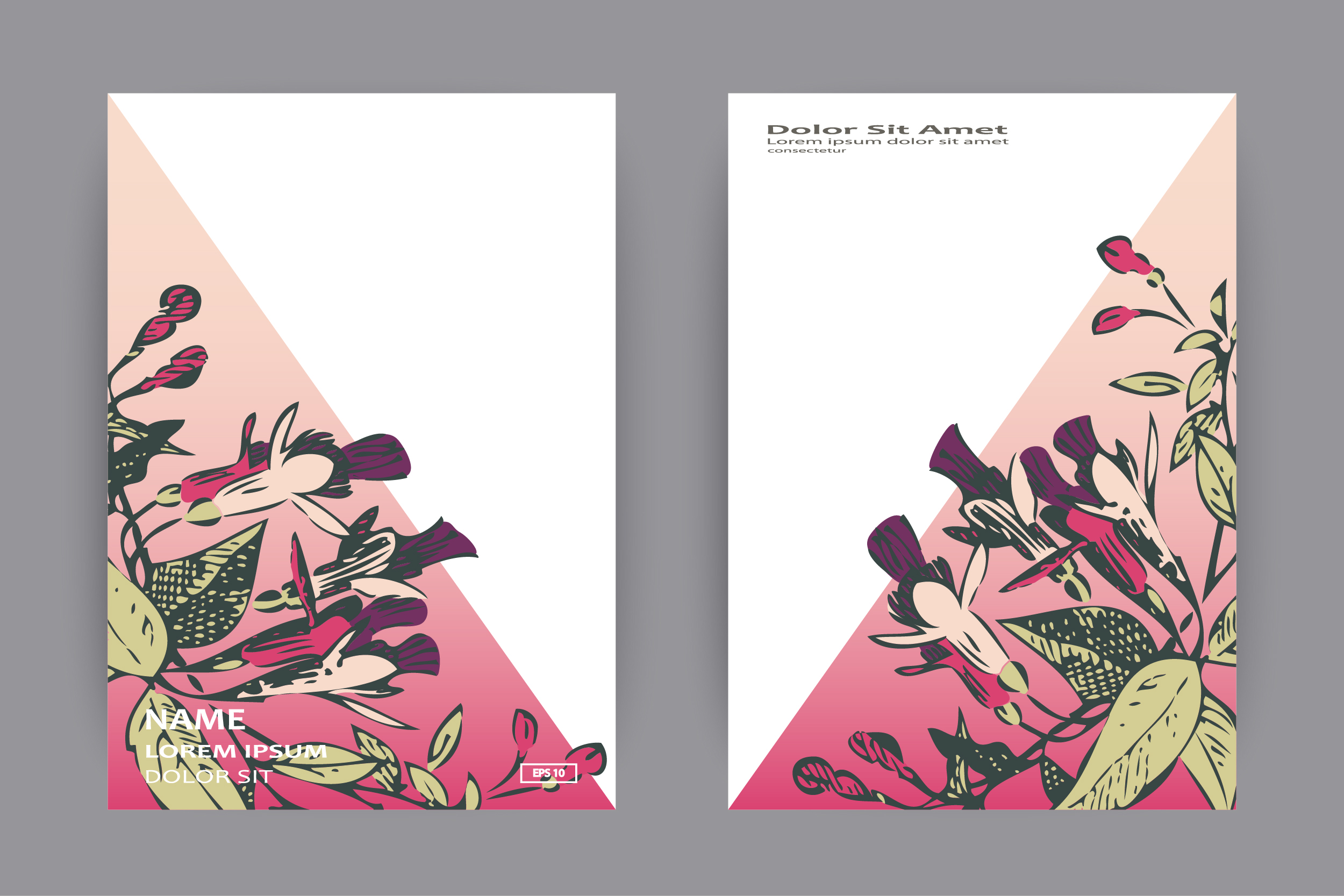 Fuchsia flowers templates for card, invitation, wedding example image 4