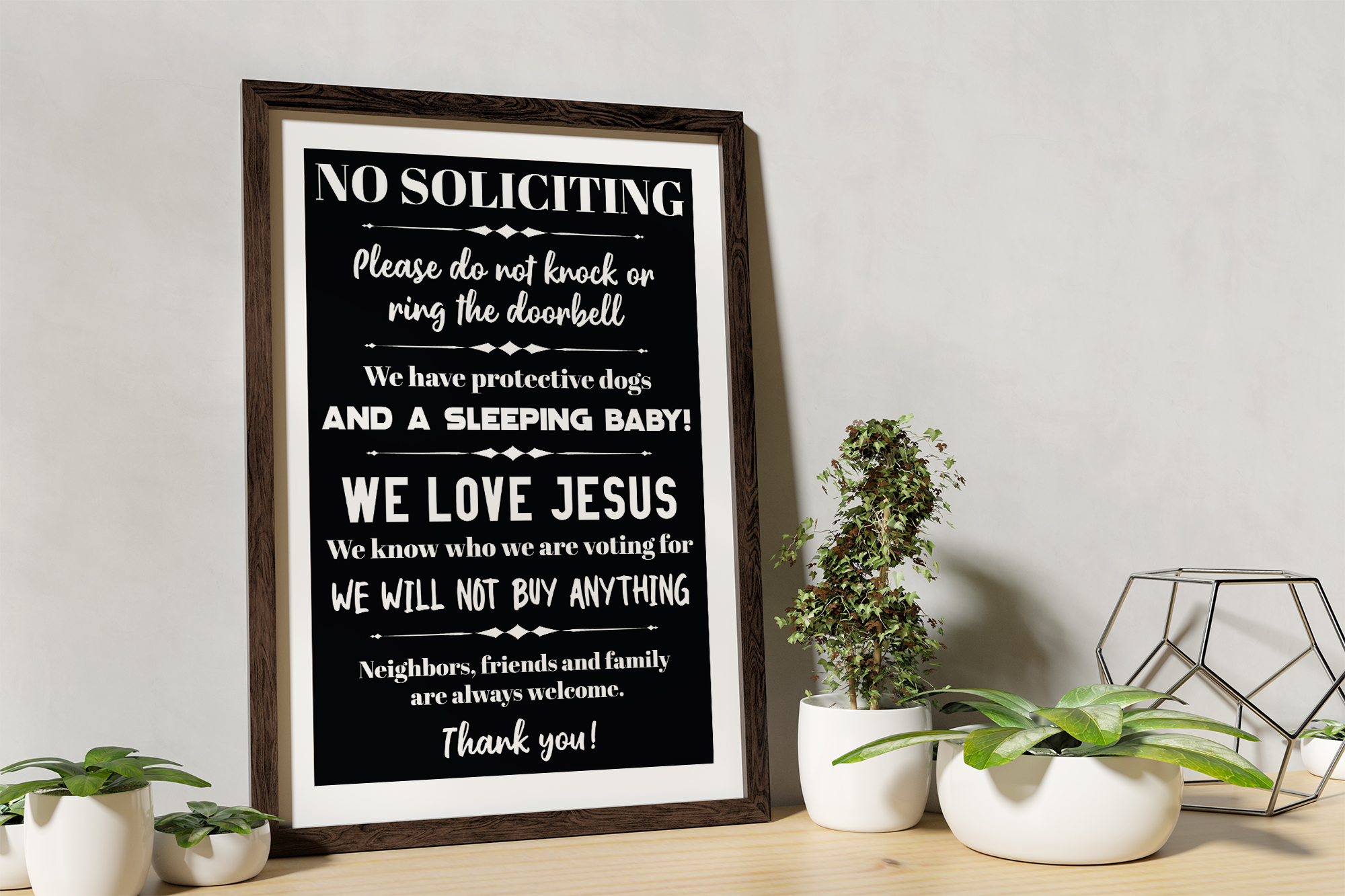 No Soliciting - Do Not Ring The Doorbell SVG EPS Solicitors example image 4