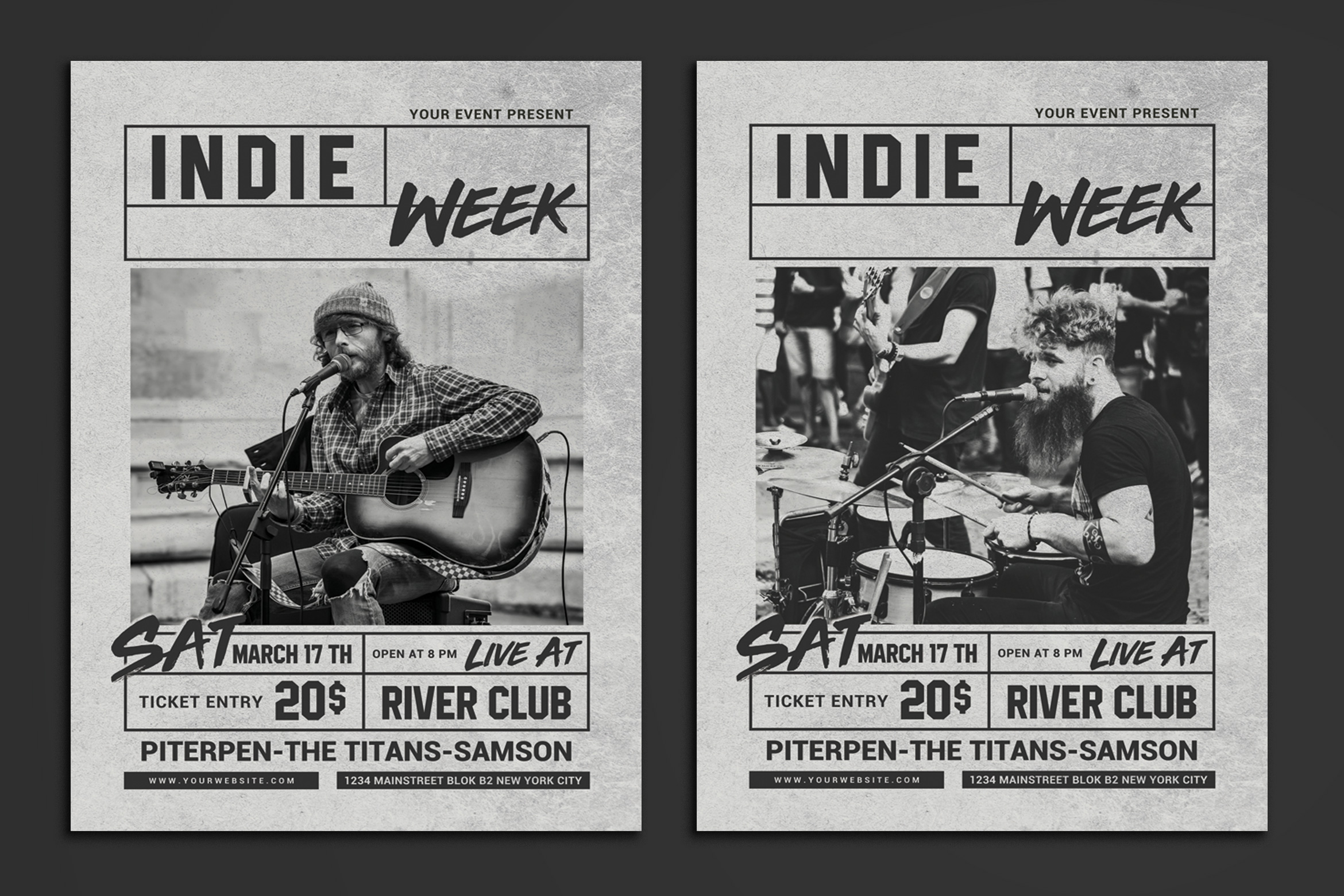 Indie Week Flyer example image 1