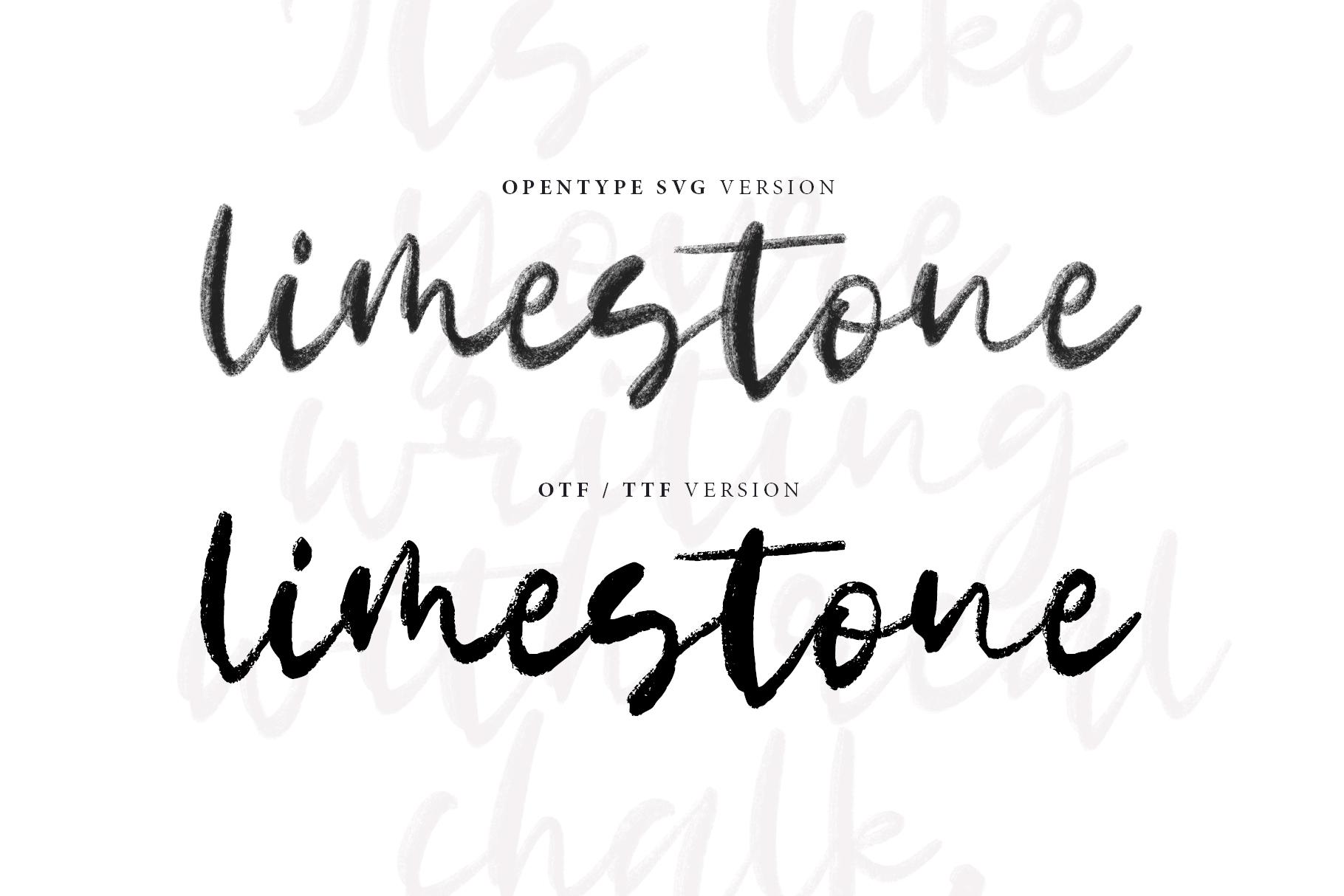 Limestone OpentypeSVG example image 8
