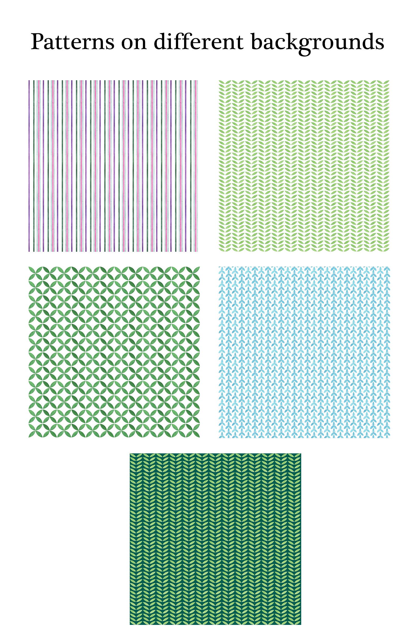 Watercolor Geometric Patterns example image 4