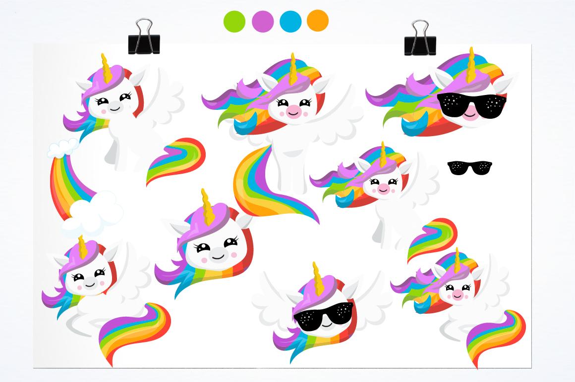Rainbow Unicorns graphics and illustrations example image 2