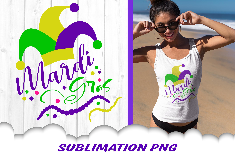 Mardi Gras Jester Fleur De Lis Beads Sublimation PNG Bundle example image 2
