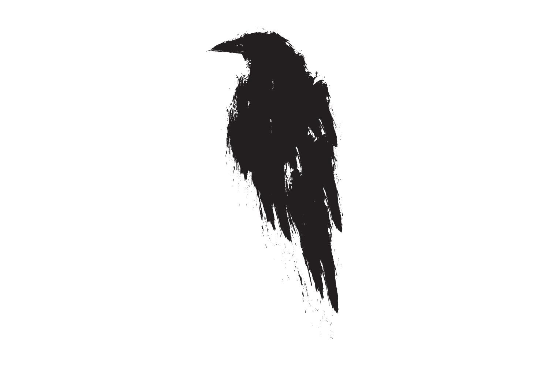 Black raven illustration. example image 1