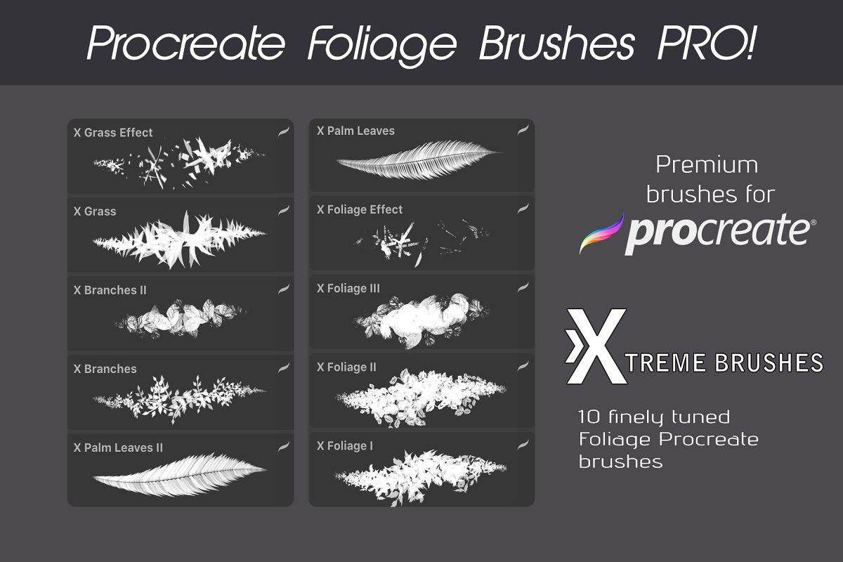 Procreate Foliage Brushes PRO example image 2