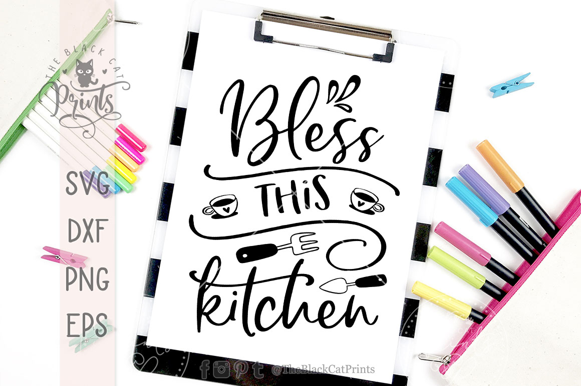 Bless This Kitchen SVG DXF PNG EPS example image 3
