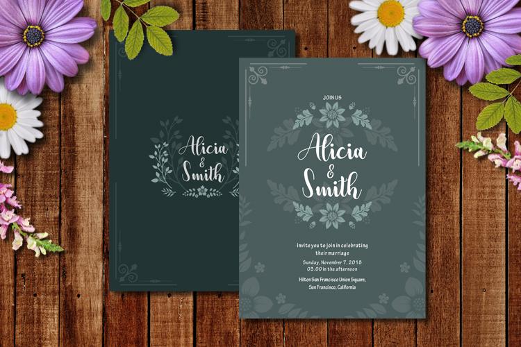 Floral Wedding Invitation example image 2