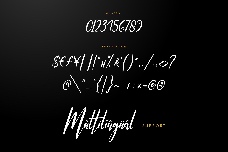 Ottmar - Handwritten font example image 6