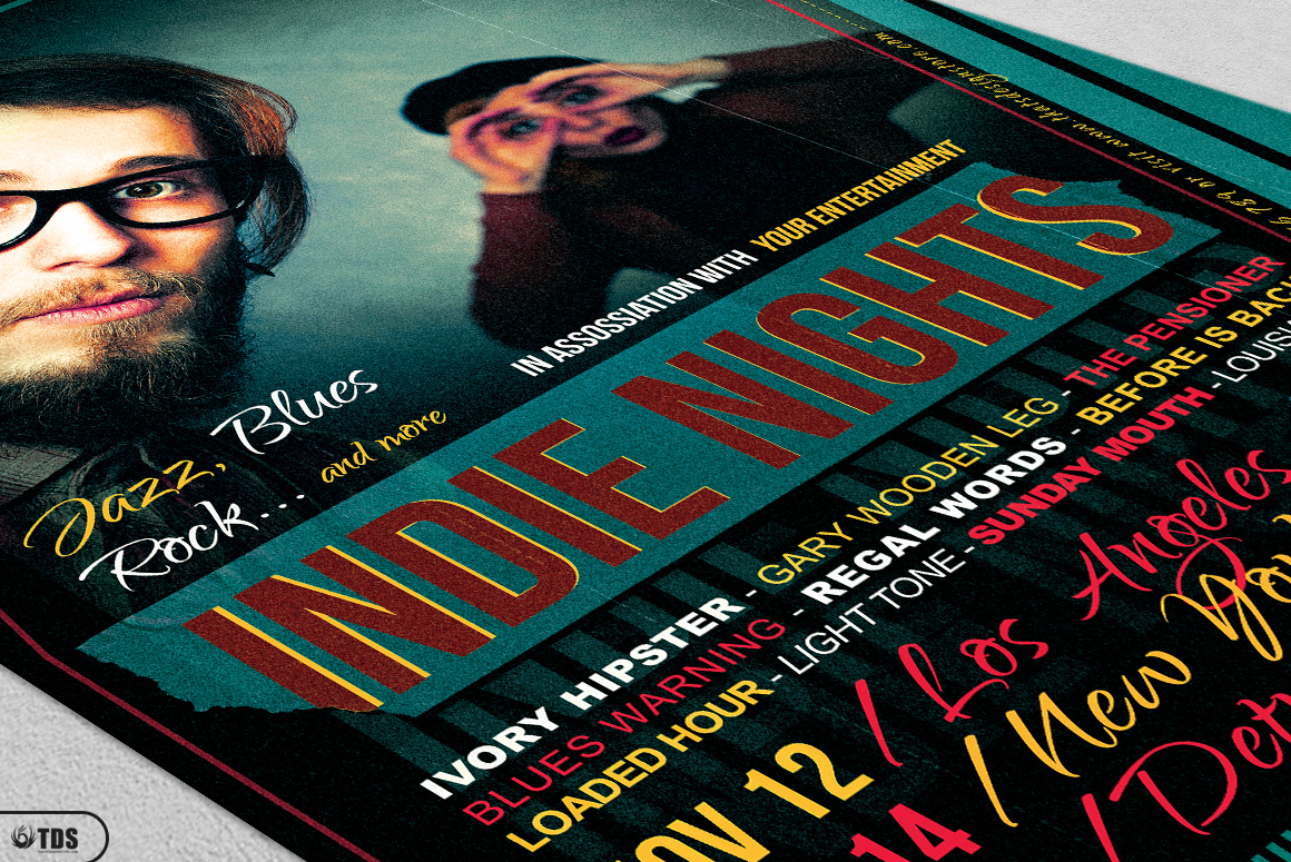 Indie Nights Flyer Template example image 5