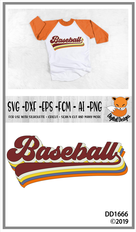 Retro Baseball SVG Bubble letters example image 2