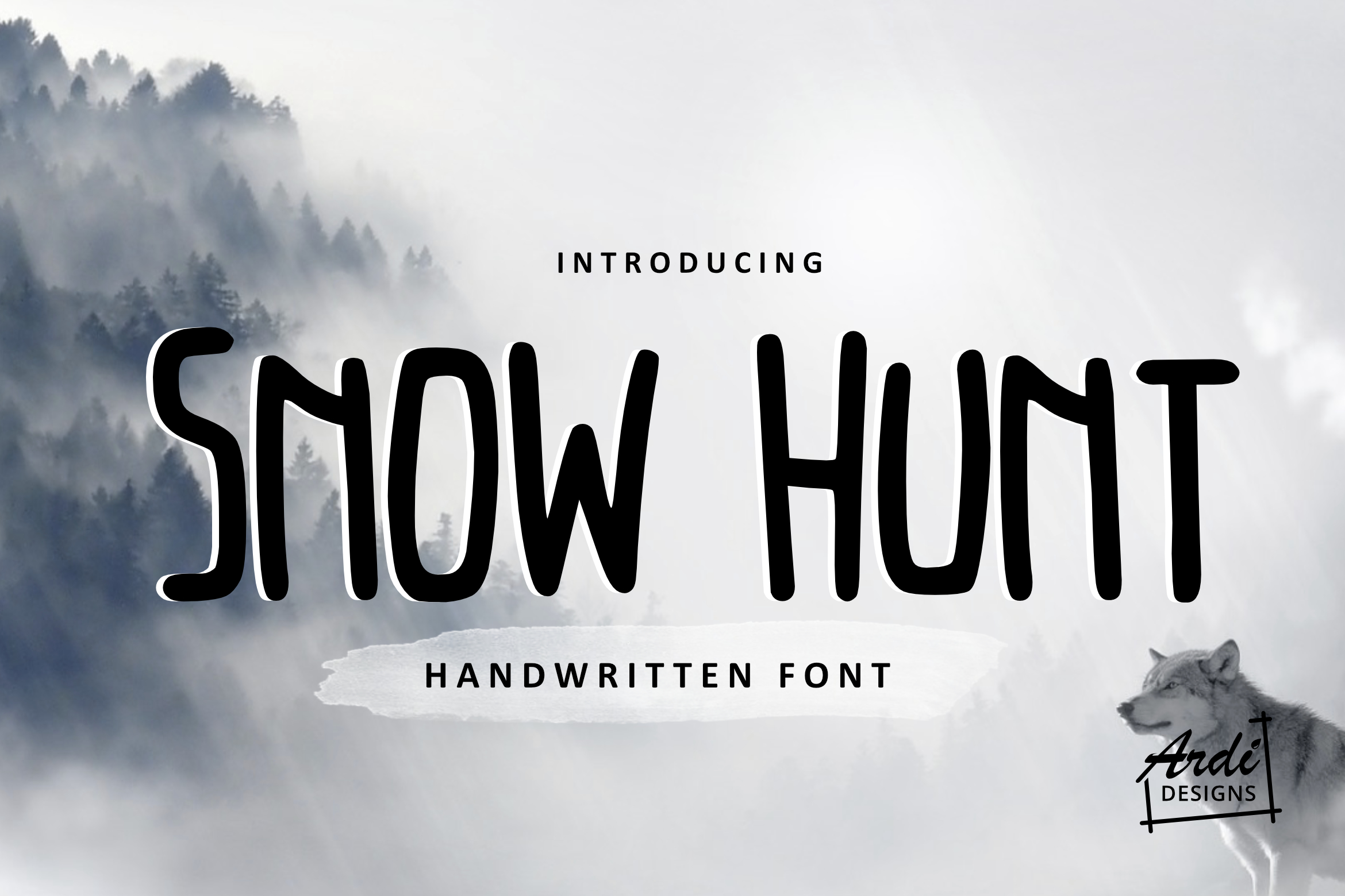Snow Hunt Font example image 1