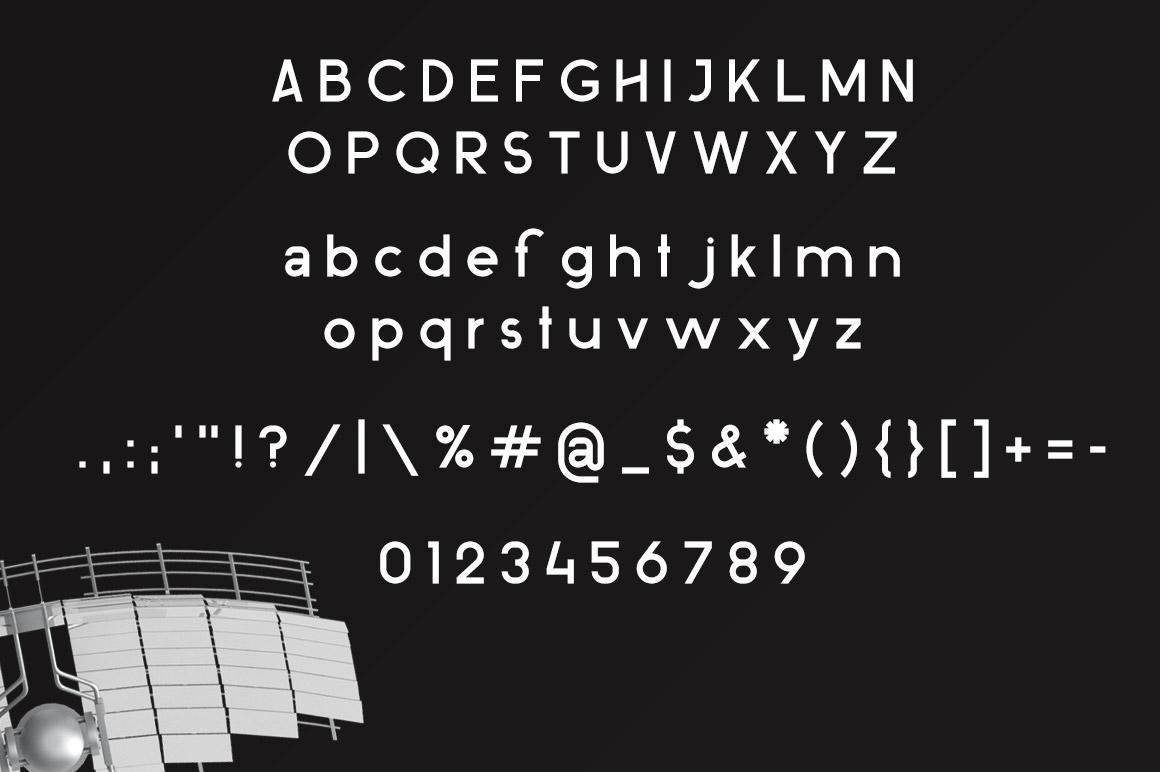 ovine Monospace Sans Serif Typeface example image 6