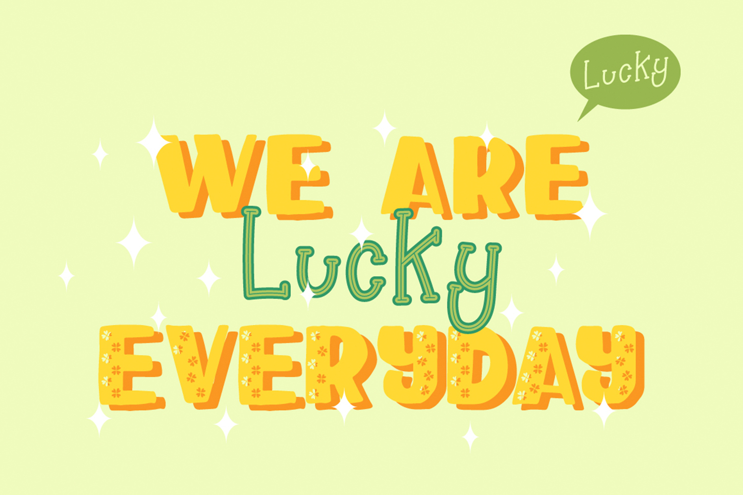 Happy Clover Font Duo example image 4