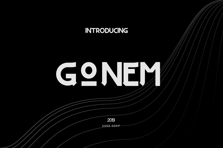 Gonem l Sans Serif Family example image 1