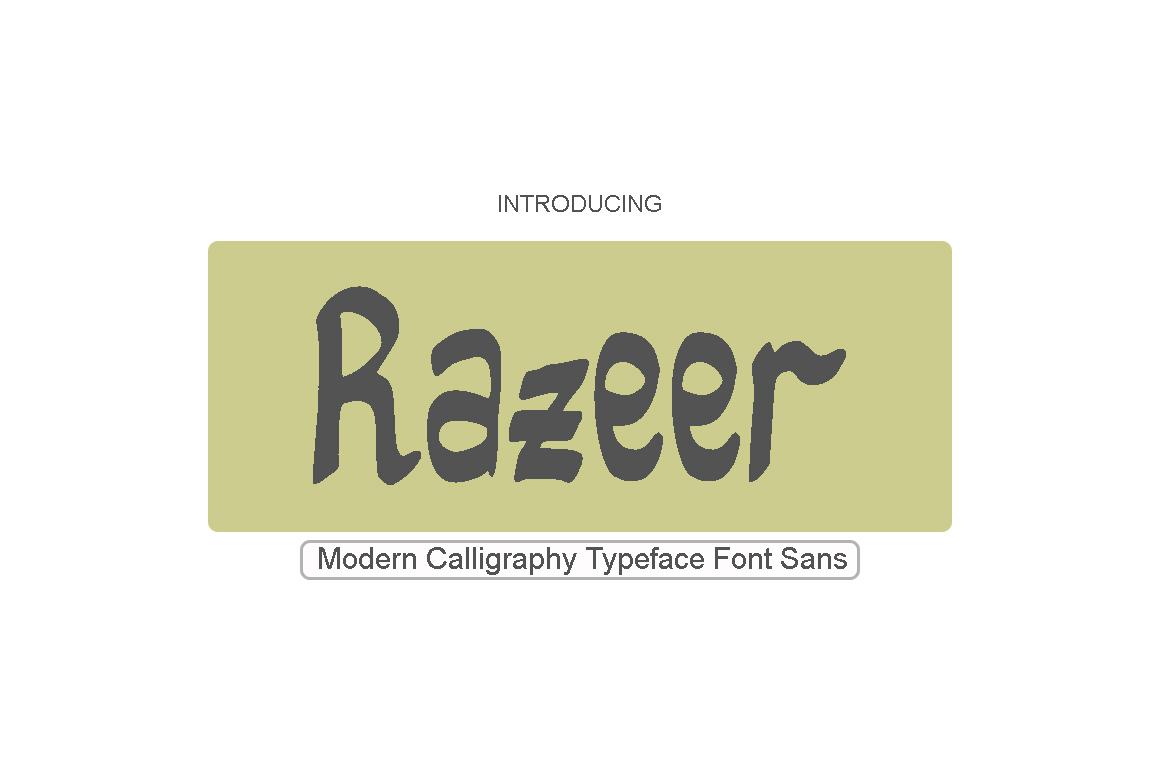Razeer Sans example image 1