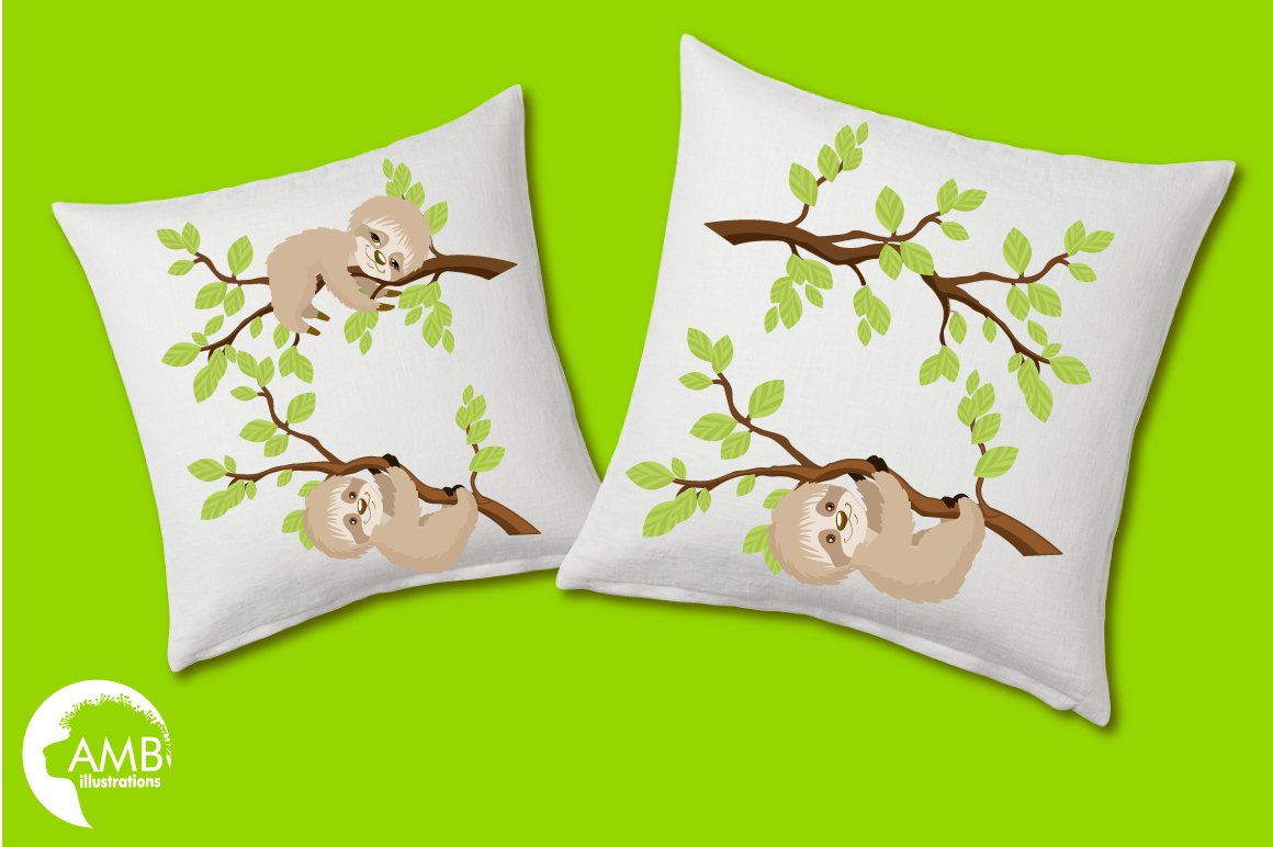 Sleepy Sloths clipart, graphics, illustrations AMB-2200 example image 3