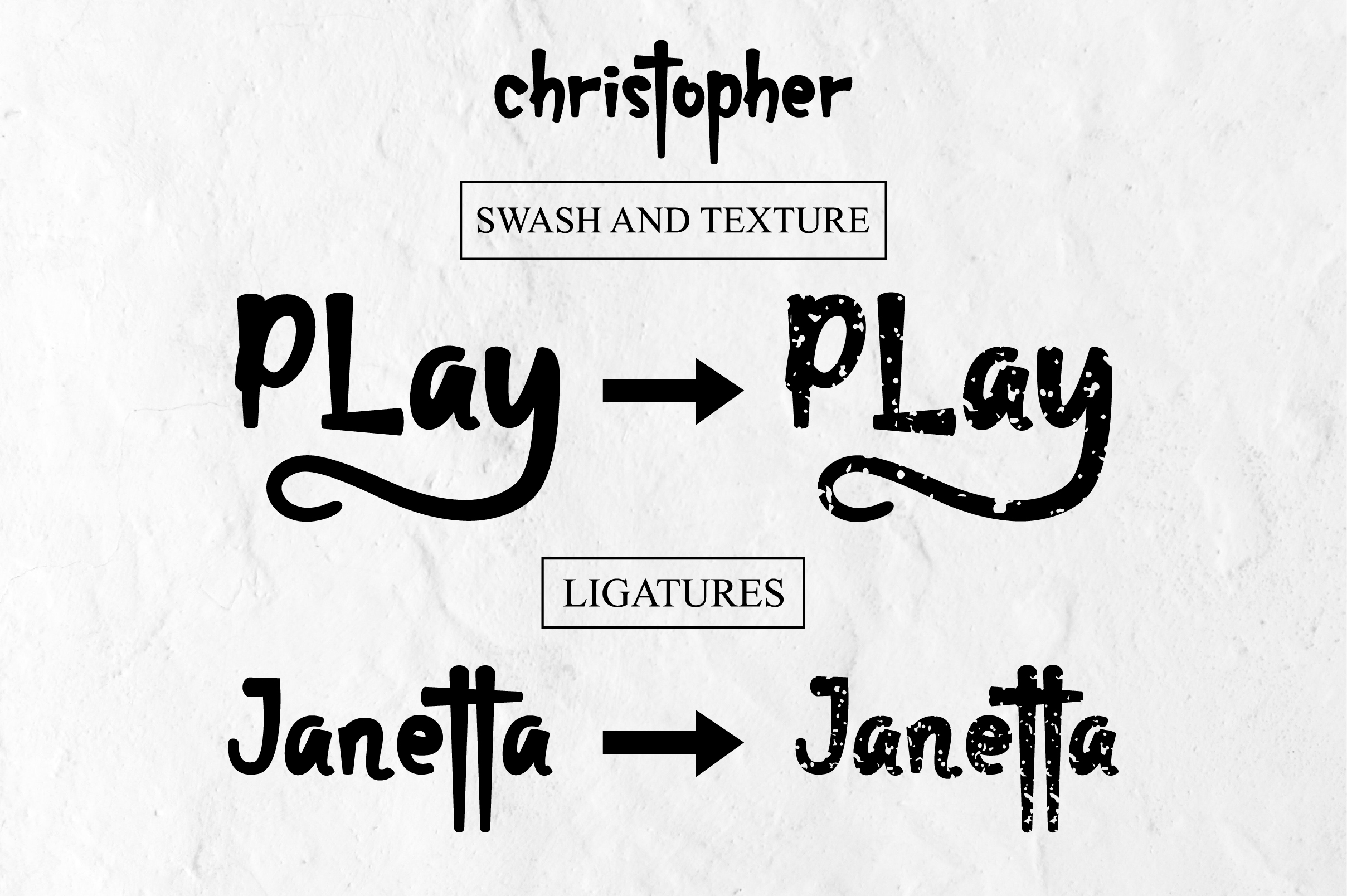 christopher-display font and texture version example image 2