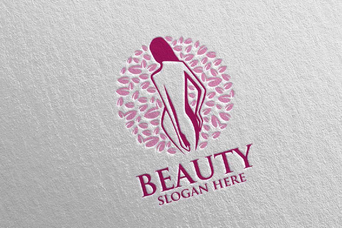 Natural Beauty, Yoga, Fitness, Massage Logo example image 5