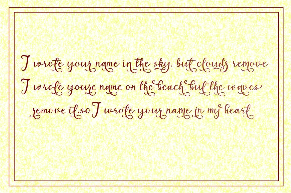 Milk&Honey // script handwritten example image 7