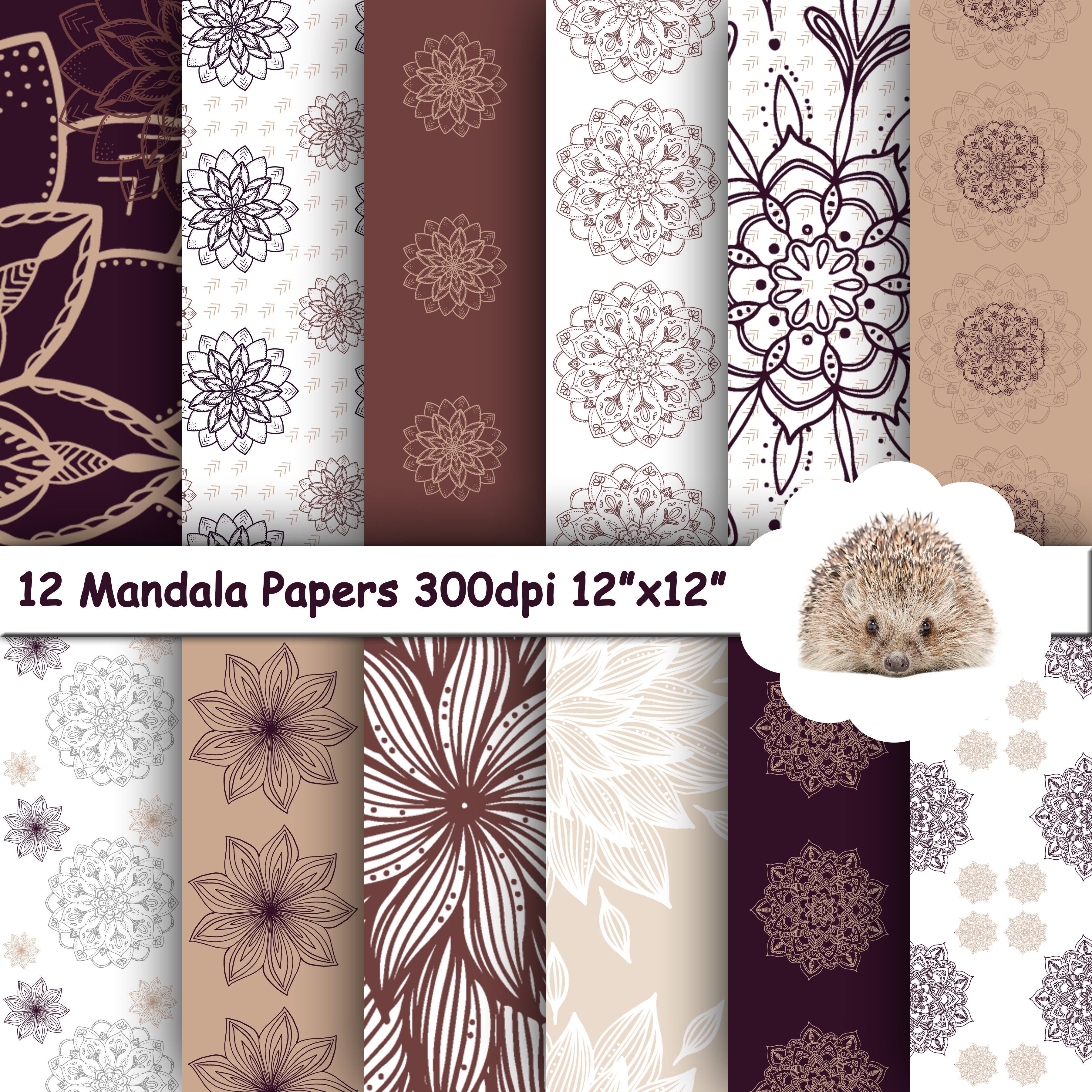 12 Panel Mockup for Digital Papers, Textures & Backgrounds example image 8