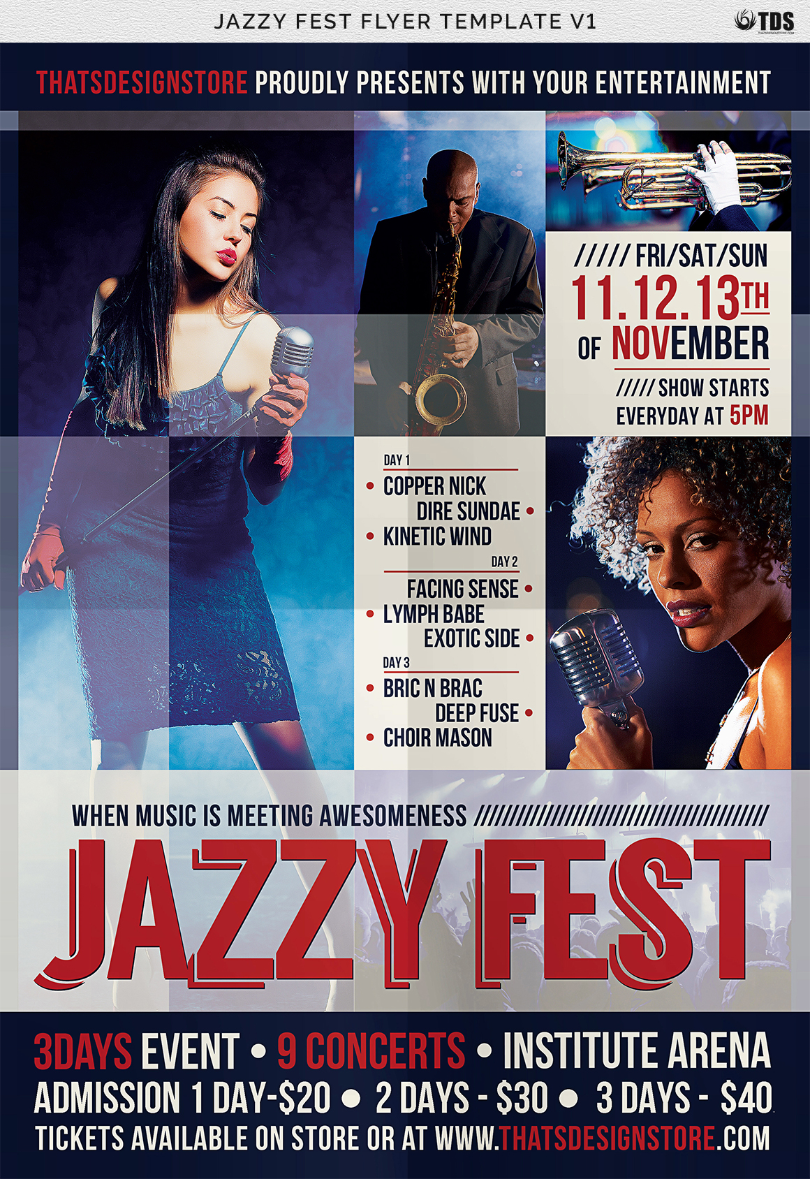 Jazzy Fest Flyer Template V1 example image 7