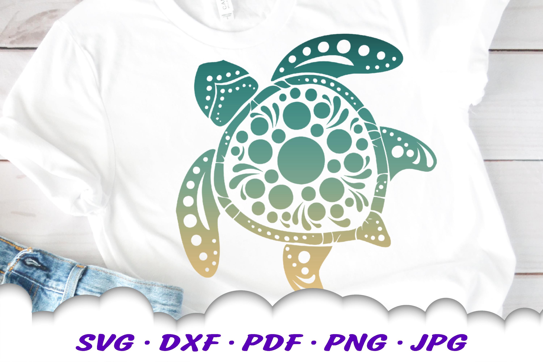 Mandala Sea Turtle SVG DXF Cut Files Crafters Bundle example image 6