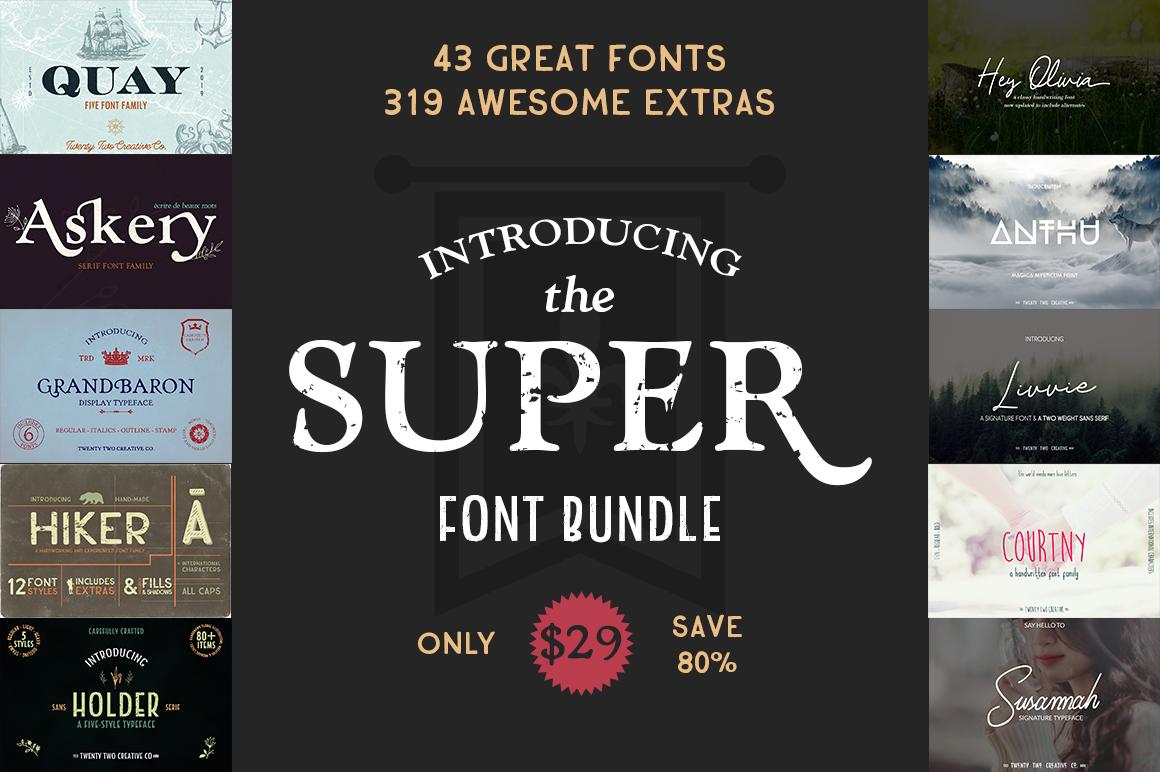 Super Font Bundle example image 1