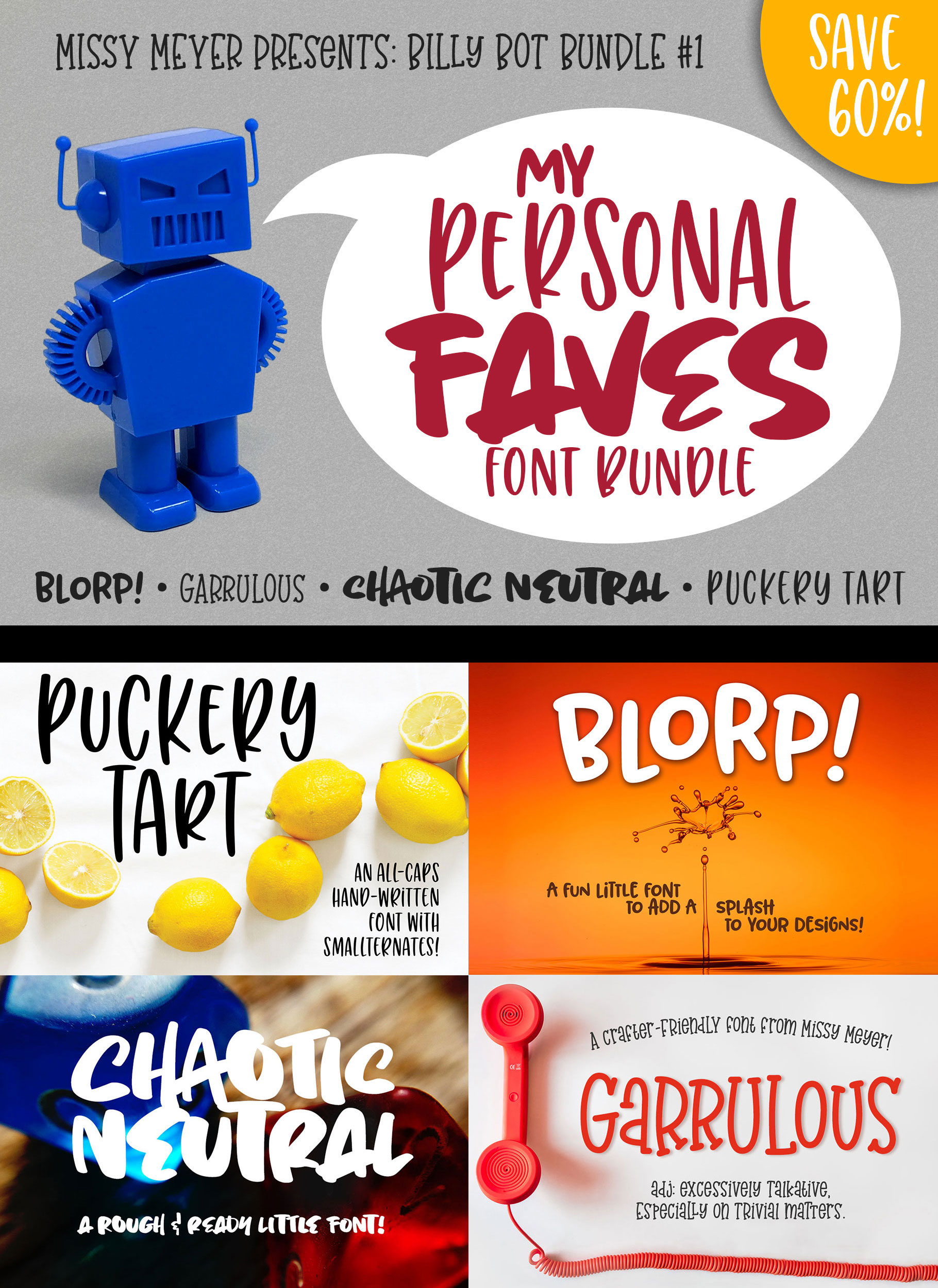 Billy Bot Bundle 1 - My Personal Faves Font Bundle! example image 7