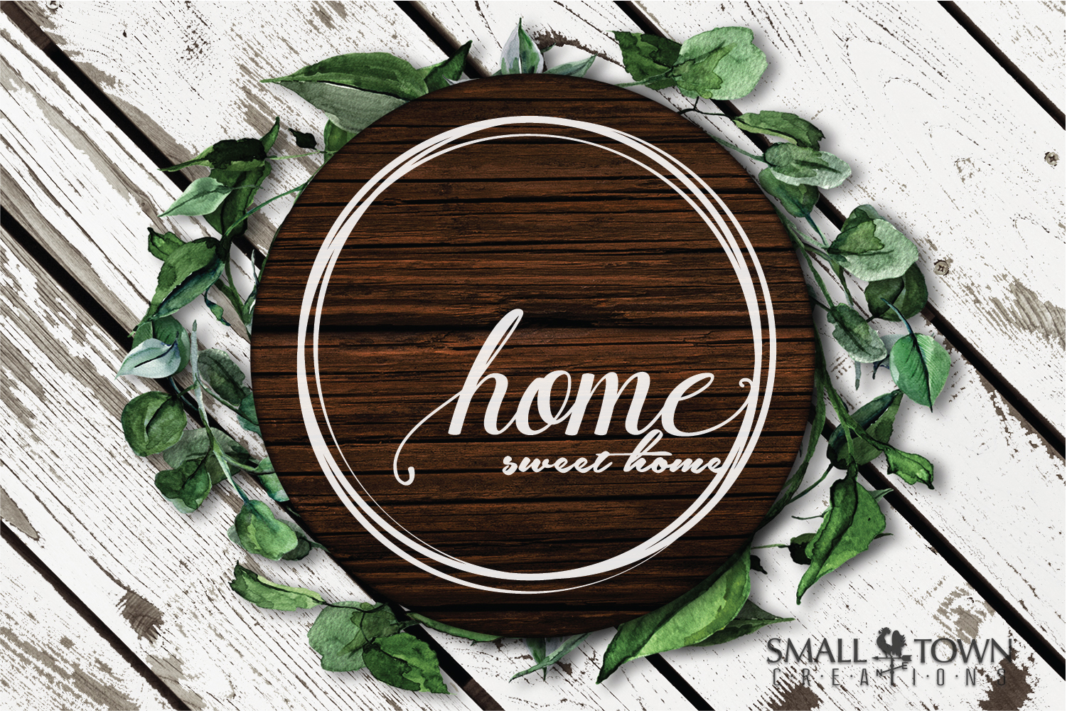 Home, Welcome, Blessed, Wreath, PRINT, CUT & DESIGN example image 2