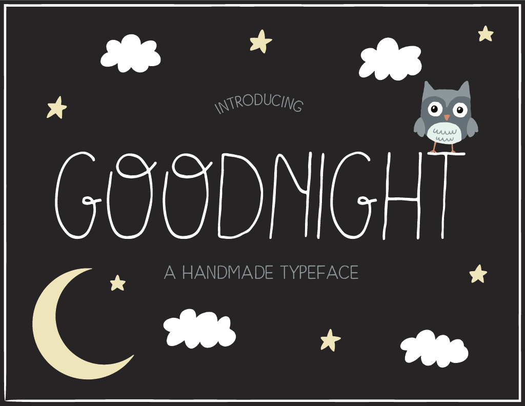 Goodnight Handmade Font example image 1