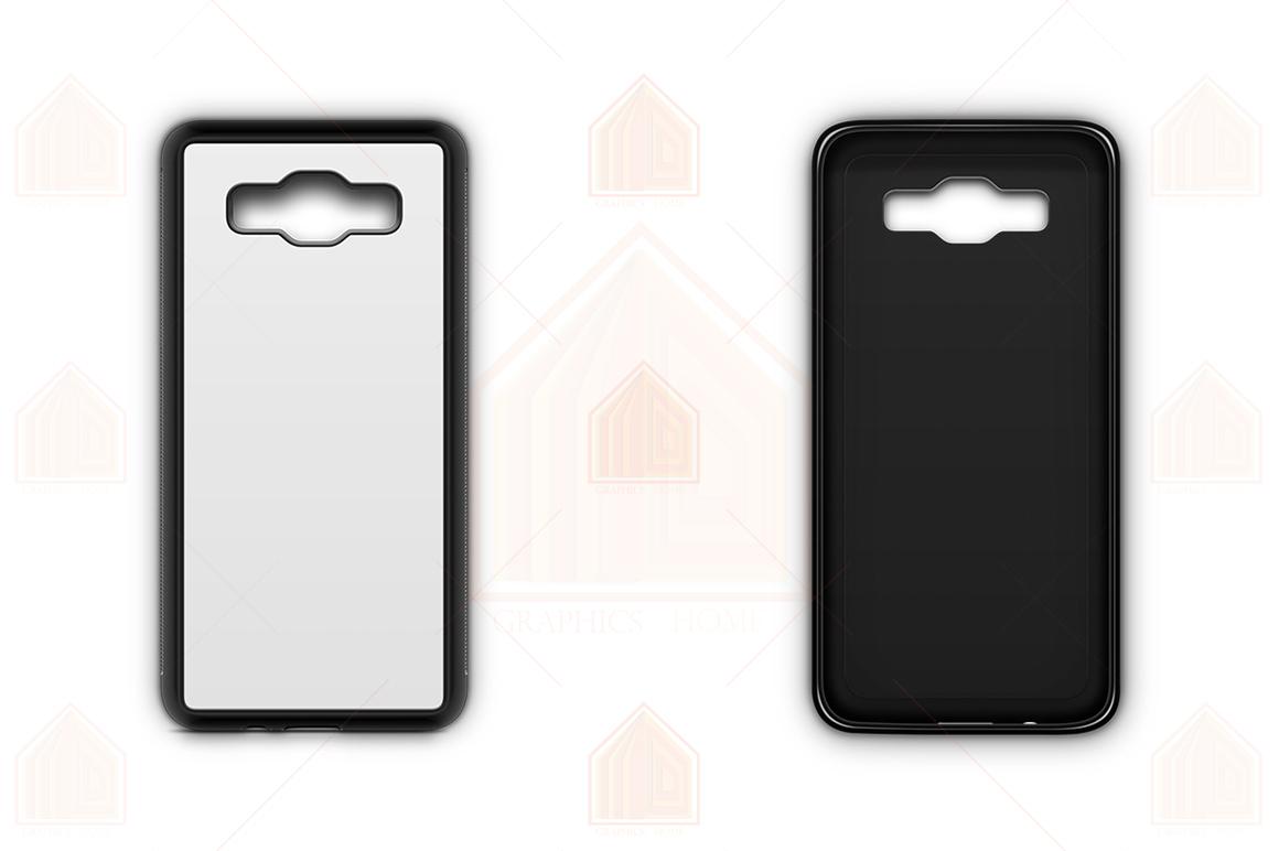 Galaxy A5 2015 2d RubberFlex Case Design Mockup Back-Front example image 2