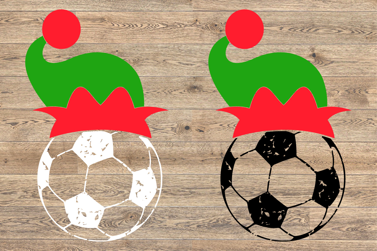 Soccer Christmas Hat svg Elf sweater tackle santa 1050s example image 2