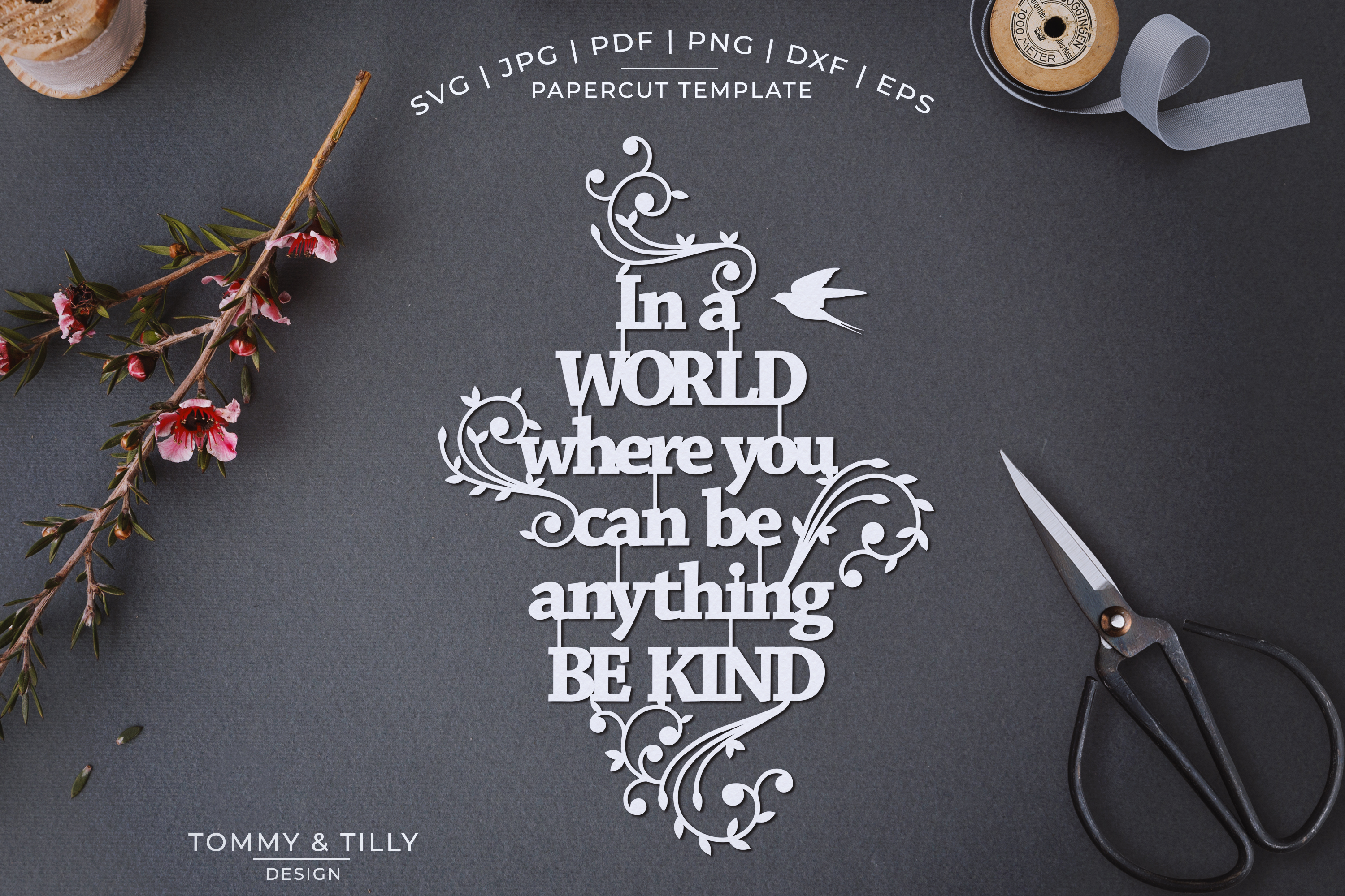 In a world where you can be anything - Papercut SVG EPS DXF example image 1