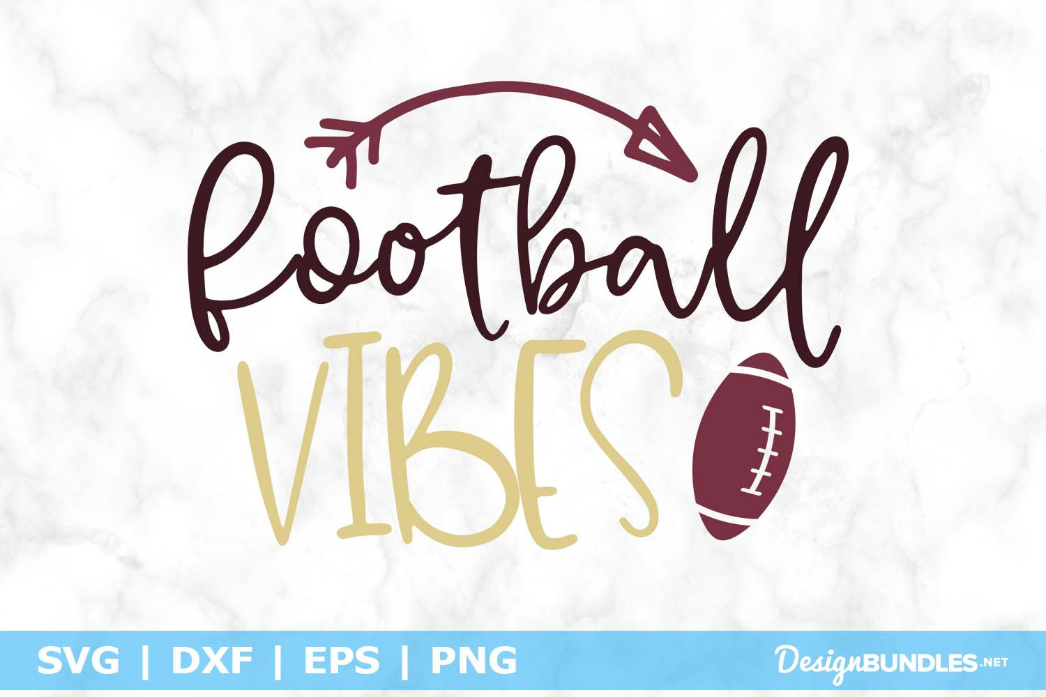 Football Vibes SVG File example image 1