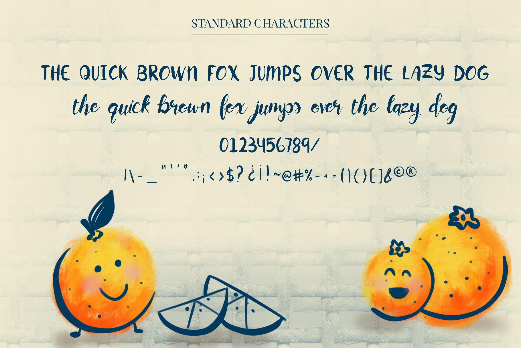 Orange You Glad? Font example image 2