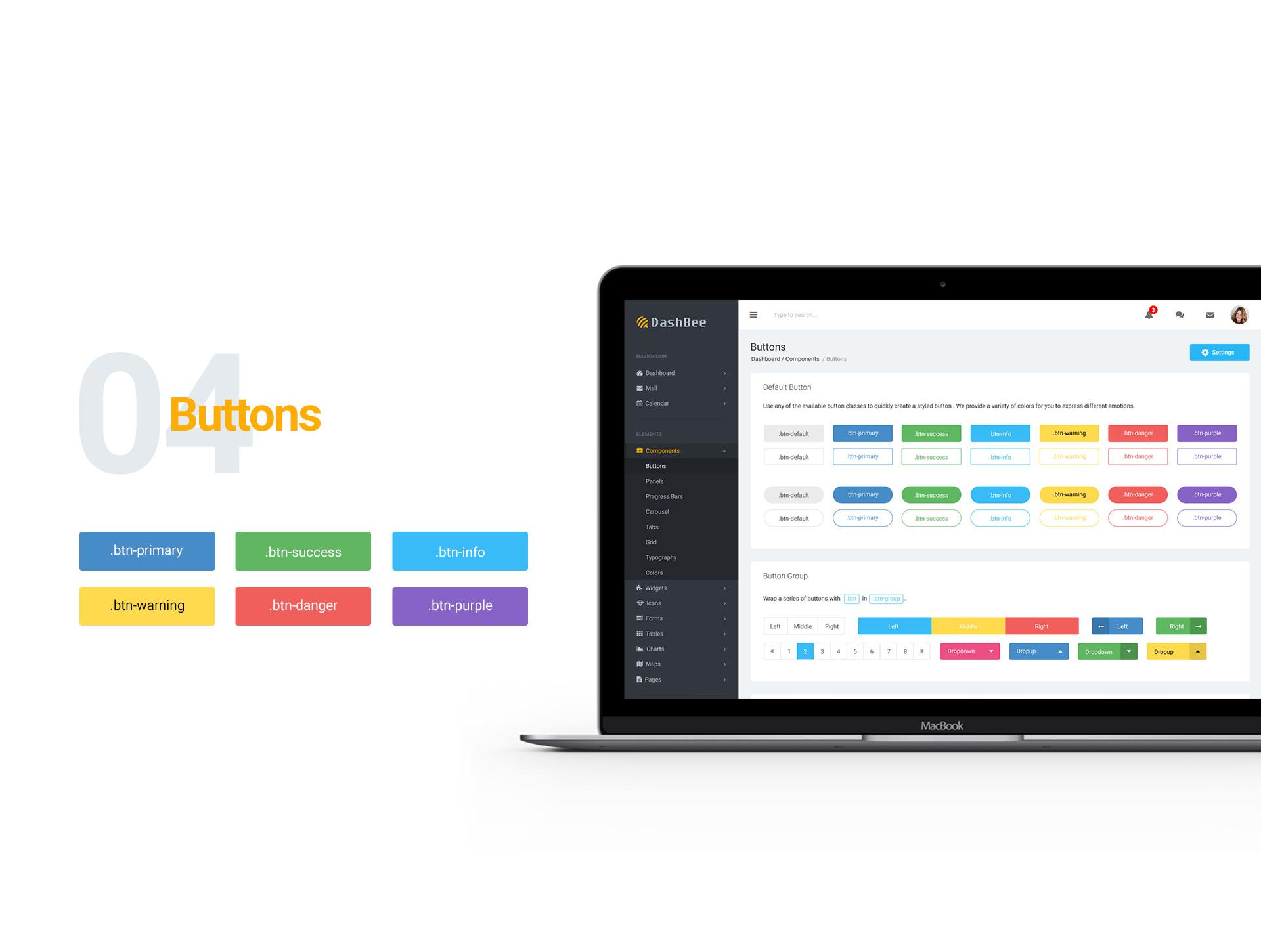 DashBee - Dashboard UI Kit example image 5