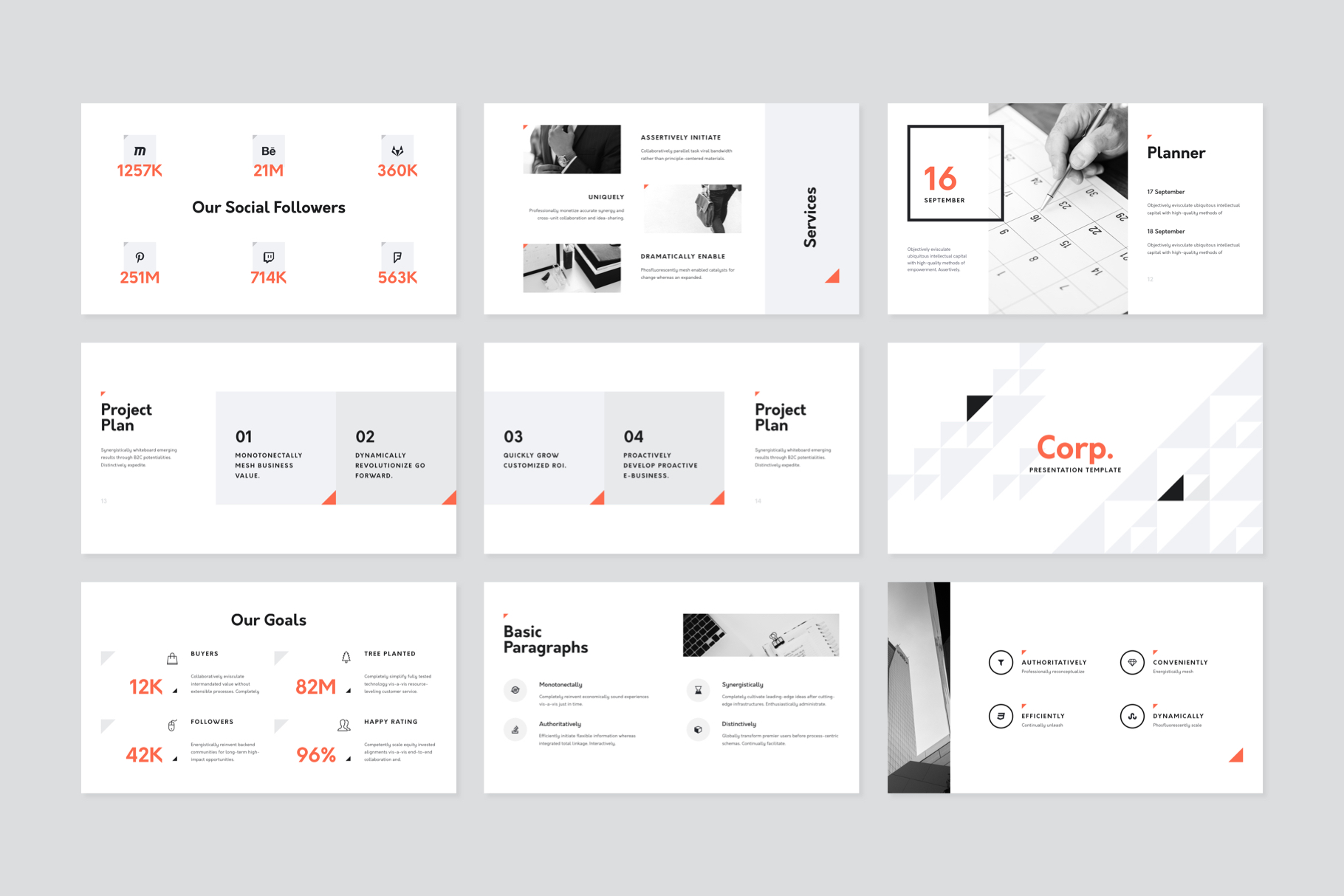 Corp Keynote Presentation Template example image 6